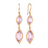 Leaf Rose De France Double Drop Earrings