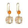 Rutilated Quartz Double Drop Signature Earrings