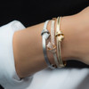 Knot Bangles Stacked