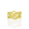 Diamond Florette Band in Yellow Gold