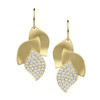 Lotus Pave Diamond Earrings