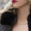 Moderne Pave Diamond Bar Necklace