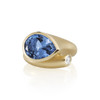Large Whirl London Blue Topaz Ring