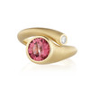 Whirl Pink Tourmaline and Diamond Ring