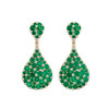 Emerald Tear Drop Bespoke Earrings