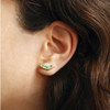 Leaf Green Quartz Stud Earrings