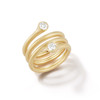 Whirl Two Stone Diamond Spiral Ring