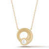 Whirl Diamond Circle Pendant