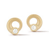 Whirl Diamond Circle Stud Earrings