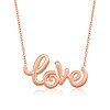 Whirl Love Necklace in Rose Gold
