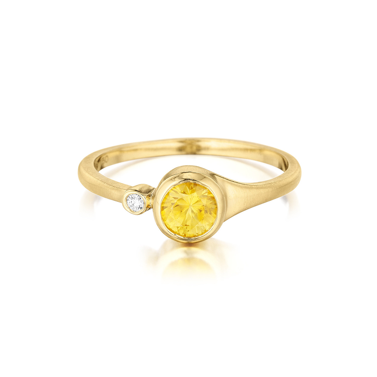 59551a02bc578 Yellow Sapphire and Diamond Accent Stack Ring