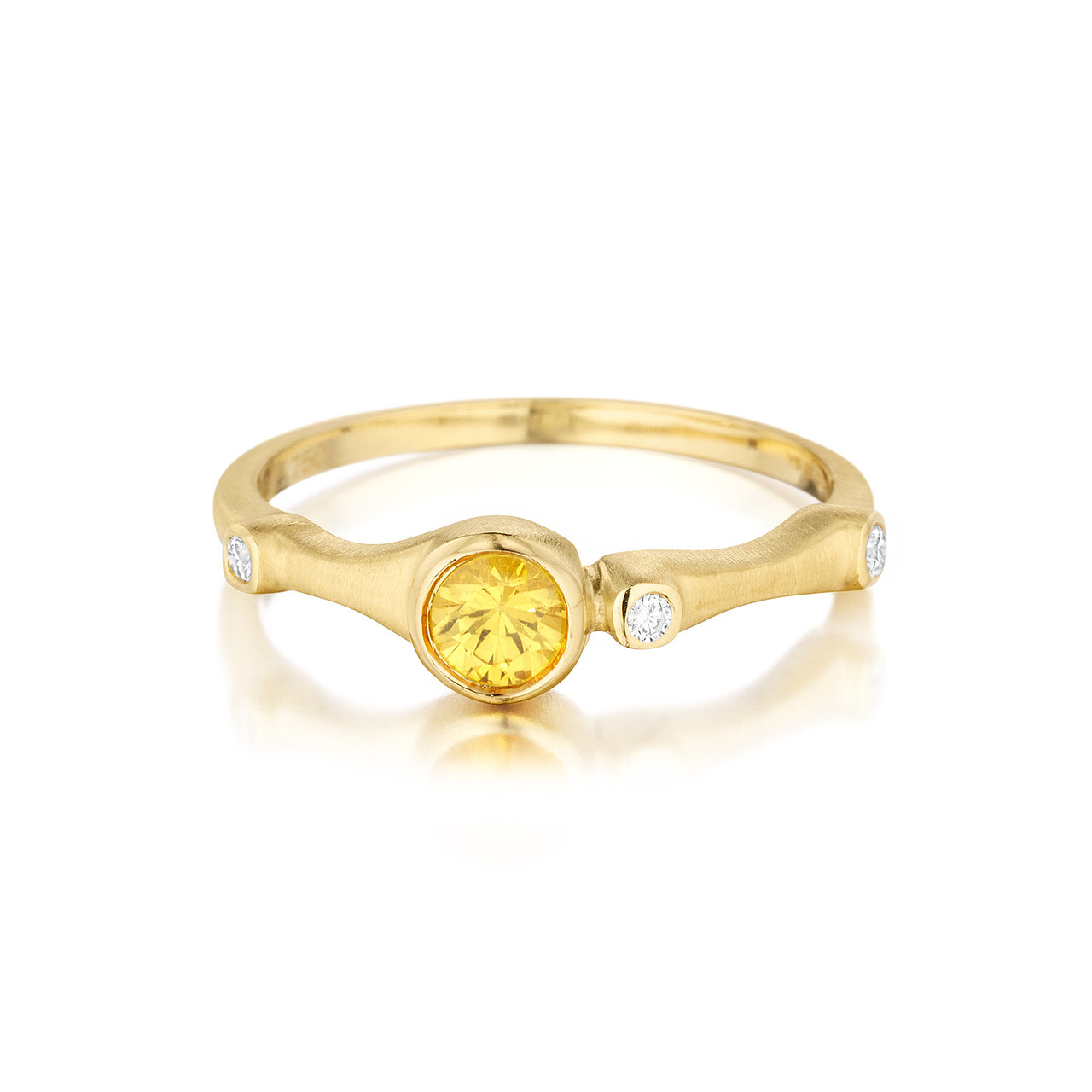03c4a65d51dc8 Yellow Sapphire and Diamond Trio Stack Ring