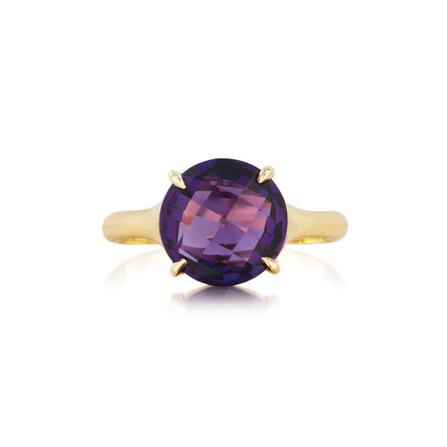 Amethyst SIGNATURE RING IN YELLOW GOLD