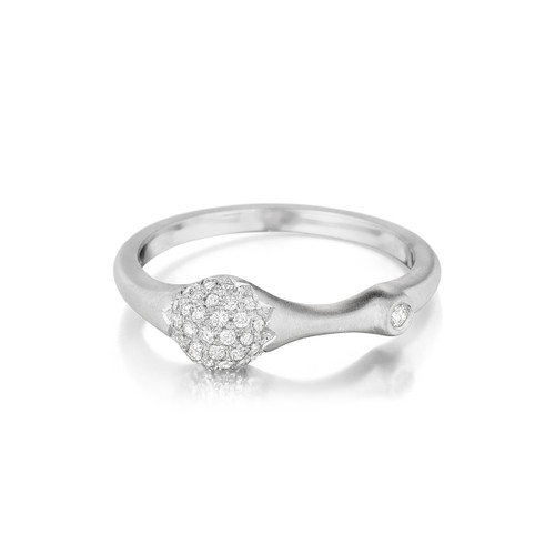 White Gold Pave Diamond Stack Ring