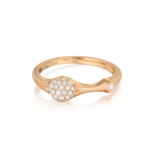 Rose Gold Pave Diamond Stack Ring