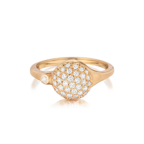 Rose Gold Diamond Sizzle Stack Ring
