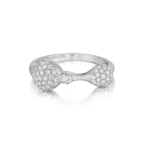 White Gold Diamond Sizzle Duo Stack Ring