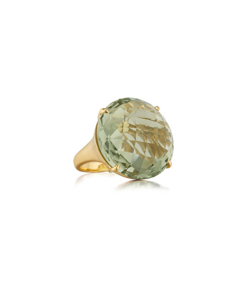Green Quartz Jumbo Signature Ring