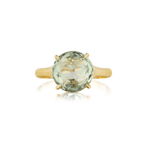 Green Quartz SIGNATURE RING IN YELLOW GOLD