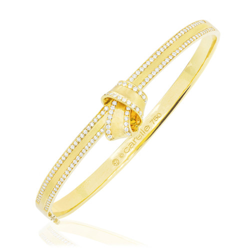 Knot Diamond Trim Bangle
