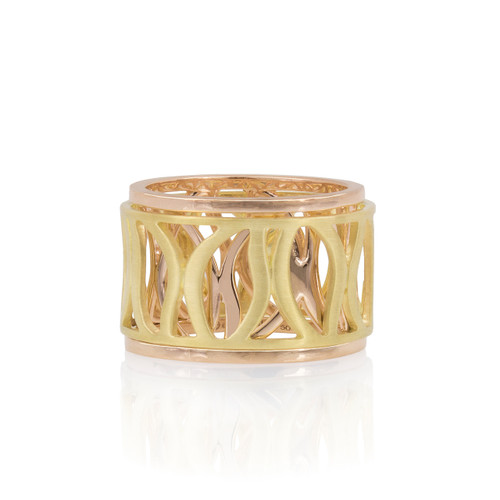 Athena Yellow and Rose Gold Spinning Ring