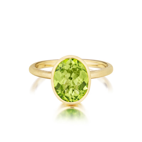 Oval Peridot Stack Ring