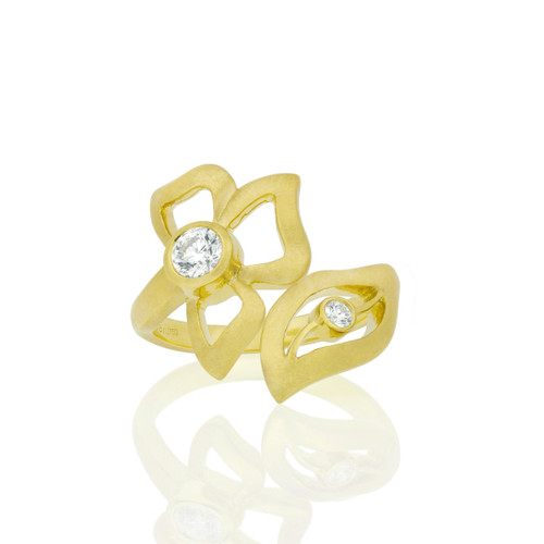 Florette Diamond Wrap-Around Ring