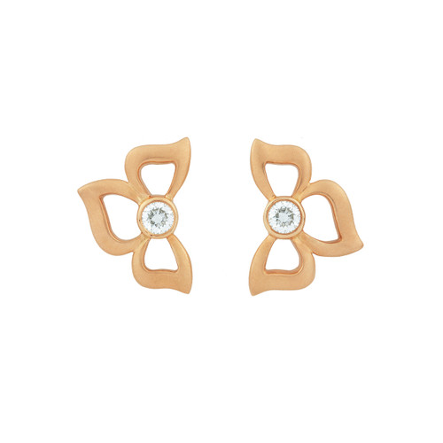 Florette Diamond Stud Earrings in Rose Gold