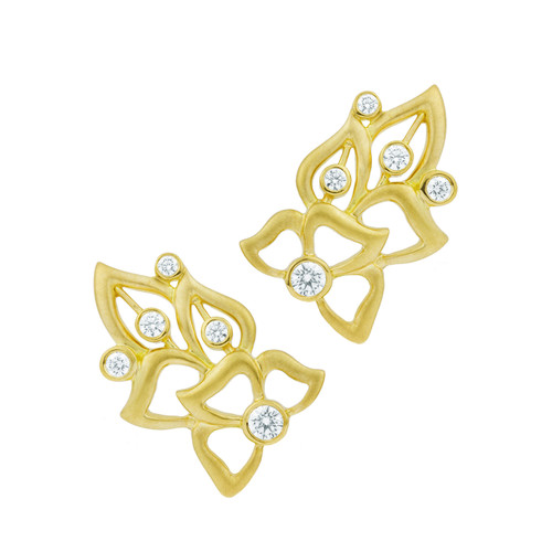 Florette Diamond Wing Earrings