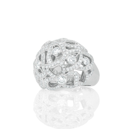 Florette Pave Diamond Bombay Ring