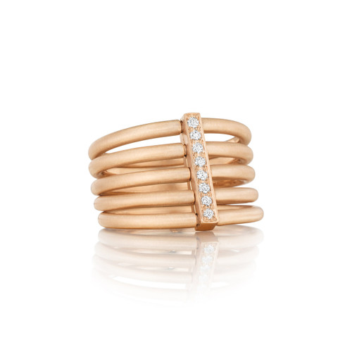 Moderne Penta Ring in Rose Gold