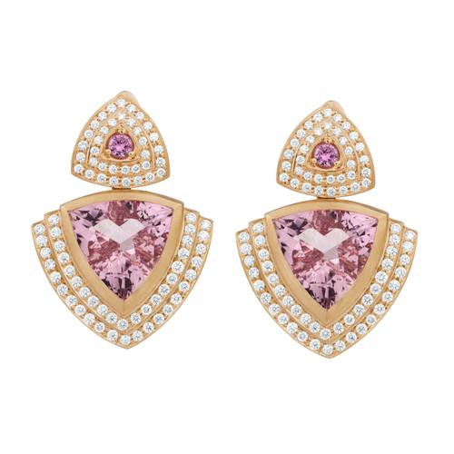 Steps Trillion Morganite Earrings