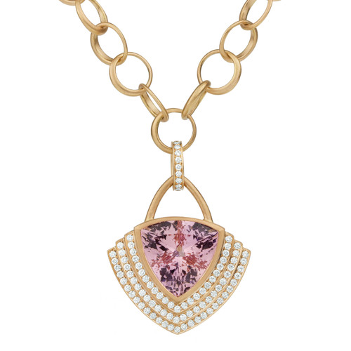 Steps Trillion Morganite Necklace