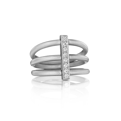 Moderne Trio Ring in White Gold