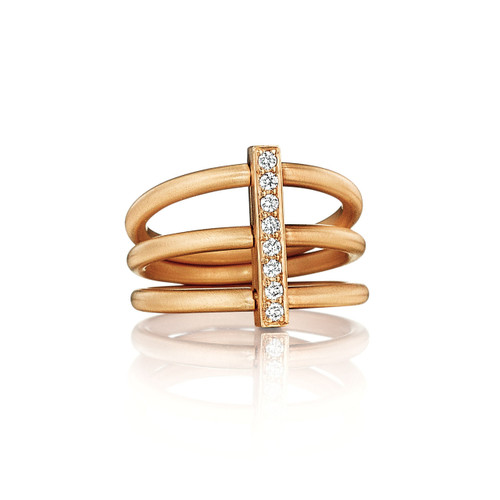 Moderne Trio Ring in Rose Gold