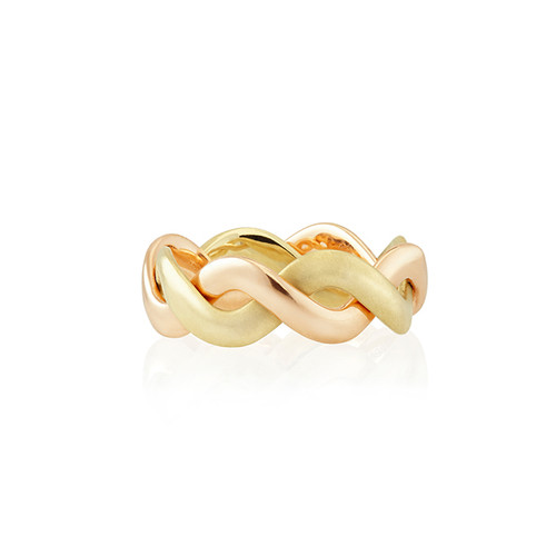 Whirl Yellow and Rose Gold Band