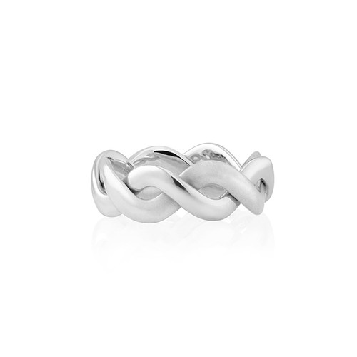 Whirl White Gold Band