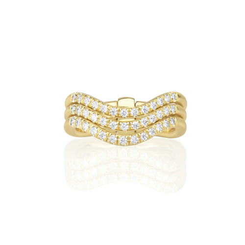 Moderne Trio Wave Ring