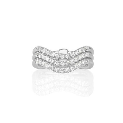 Moderne Trio Wave Ring in White Gold