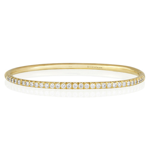 Moderne Pave Diamond Bangle