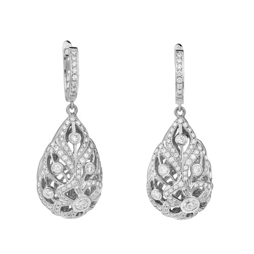 Florette Pave Diamond Earrings