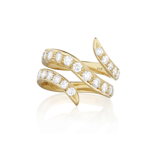 Whirl Pave Diamond Wrap Ring