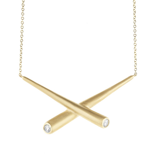 Whirl Cross Bar Pendant