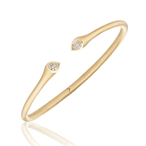 Whirl Clustered Diamond Bangle