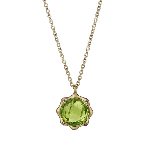 Peridot August Birthstone Pendant