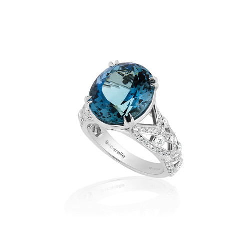 Aquamarine Bespoke Ring