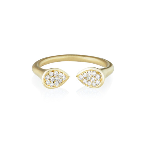 Whirl Clustered Diamond Ring