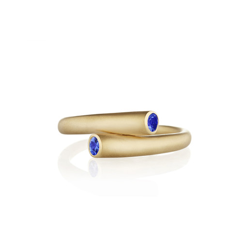 Whirl Single Blue Sapphire Ring