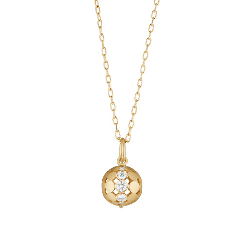 Small Disco Dots Diamond Ball Pendant