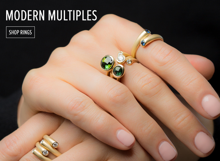 Modern Multiples. Shop Rings